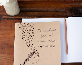 Brain Explosions Notebook - Eco-Friendly Gift for Adults or Children