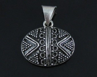 Pendant, Symmetrical,  Sterling Silver, Oval Pendant