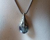 Tibetan Stone Pendant in Iridescent Iris for Jewelry Design, Tribal Fusion, Bellydance