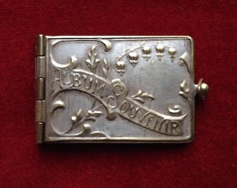 FREE SHIPPING Antique Souvenir Book Photo Locket pendant from France
