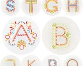 Alphabet Motif Collection Embroidery Pattern PDF