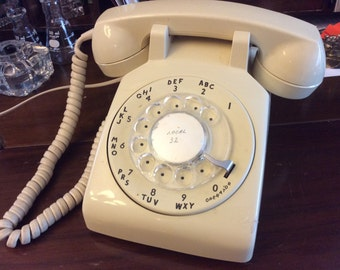 vintage office ... ROTARY DIAL TELEPHONE retro office fun