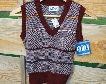 Vintage 80's Knit Sweater Vest with tags