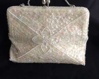 Auora Borealis sequinned formal or Bridal purse