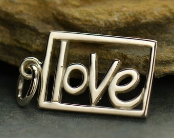 Love Word Pendant in Sterling Silver - SD499