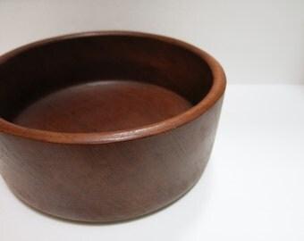Teak Salad Bowl 1960s Vintage Danish Modern Serving Piece Solid Wood Mid Century