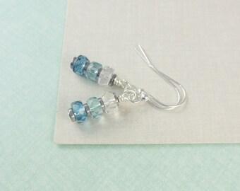 Ombre Teal Earrings for Girls