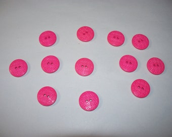 12 Matching, Pink Buttons, Lot 2601 (Free US Shipping)