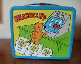 Vintage Walt Disney's Heathcliff Lunchbox Retro 1980's Original Comic Strip Cat