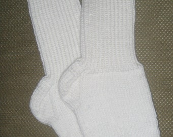 New Warm and Soft Hand Knit Socks (10.0 inches length)