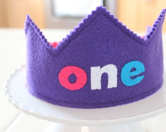 ONE Birthday Crown - girlie