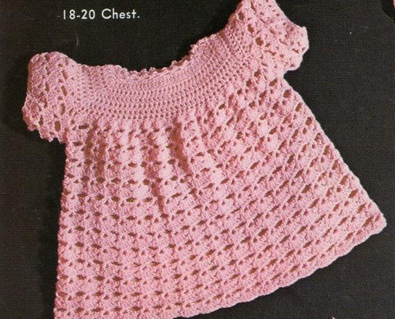 Vintage Baby Crochet Pattern / Dress Jacket by ...