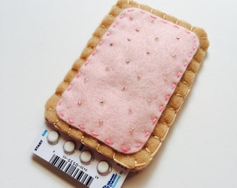 The Original Toaster Pastry Pill Case Birth Control Cozy -  (strawberry)