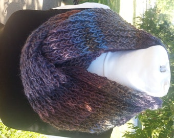 Infinity Scarf Double Knit Blue Purple Brown Rust Amazing Constellation - OOAK MWL from an EtsyMom
