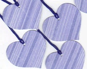 ONE DOLLAR SALE - PreStrung Glittered Large Heart Die Cut Hang Tags with String (6) (h710