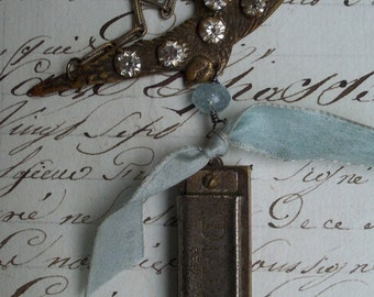 Song Bird - Antique Assemblage Necklace