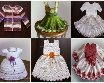 Crochet bundle package of 6 PDF patterns.