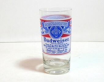 Budweiser Drinking Glass