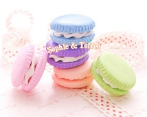 Big Macaroon Miniature Sweets Deco / Kawaii Polymer Clay Charm / French Macaron - 3pcs