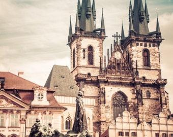 Vintage Prague #2 - Silver Art Print - Czech Republic - Fine Art Photography -  Wall Art