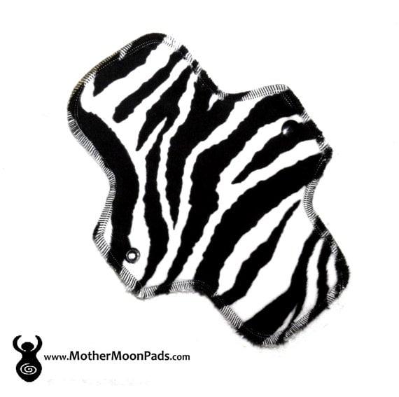 "8.5"" Zebra Minky Pantyliner"
