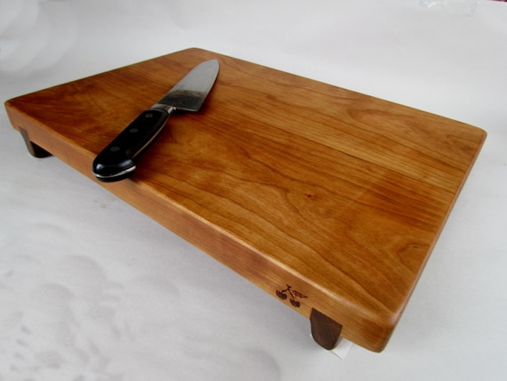 reclaimed beautiful cherry raised large serving cutting board