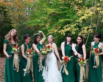 USA, Convertible dress/Infinity dress   Green