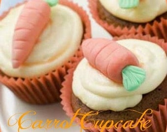 CARROT CUPCAKE Scented Soy Wax Melts - Dessert Super Scented - Flameless Wickless Soy Wax Tarts - Hand Made In USA