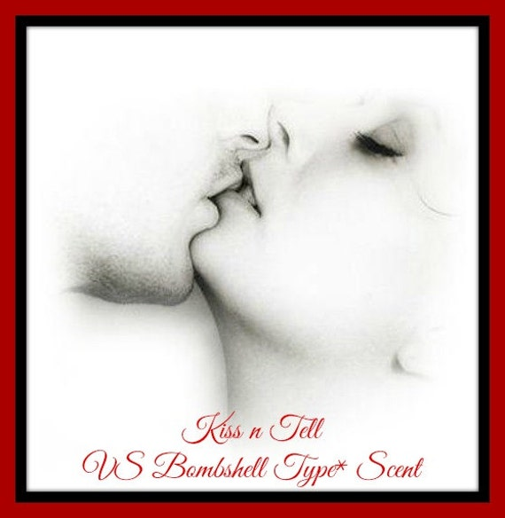 KiSS N TELL Soy Wax Melts - Soy Candle Tarts - VS Bombshell Type* Scent Dupe - Unique - Sexy - Wickless Candle - Max Scented - Fruit - Spice