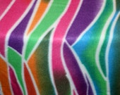 Mod Striped Fleece Fabric 3 / 4 yard x 64 inches