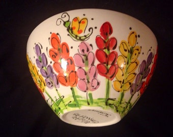A bowl of spring flowers