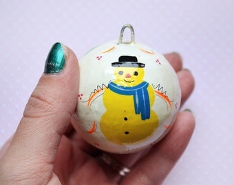 Snowman Christmas Ornament from Mexico Mexican Folk Art