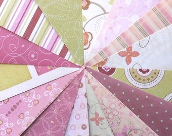 DESTASH: Love Letters by First Edition Papers - Pack of 15 Different Scrapbook Papers, 6 inch X 6 inch