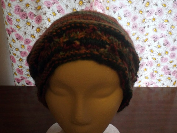 NEW Original Knit Pattern Diamond Headband Slouchy Hat ...