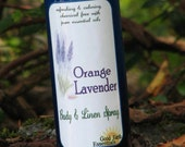 ORANGE LAVENDER Body and Linen Spray, clean refreshing scent