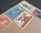 Lone Star .. Texas .. UNused Vintage Postage Stamps .. to post 5 envelopes