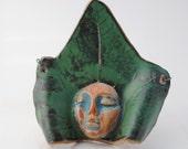ceramic leaf mask  garden house decoration