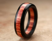 Custom Ebony Tulipwood Ring - 7mm