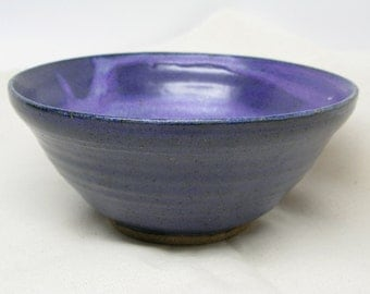 Handmade Blueberry Stoneware Bowl