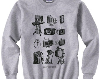 photographer shirt - photographer gift - photography gifts - sweatshirt - camera shirt - vintage camera - camera gifts - photo -PHOTOGRAPHIE