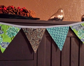 Turquoise Fabric Garland