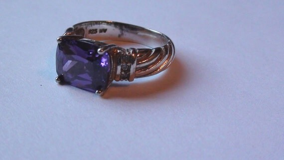 amazing promise ring iolite emerald cut rich february color