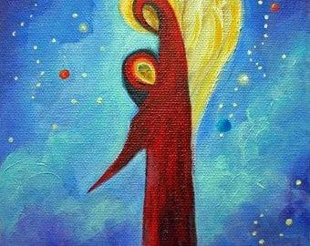 Angel Art Card, Blank Card, Greeting Cards, Fine Art Cards, Spiritual Art, Signed