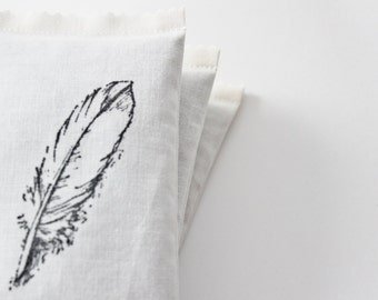 Bird Feather Drawer Sachet, Natural Home Decor, Lavender Scented