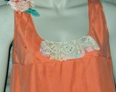 Summer Orange Sorbet Garden Party Altered Fashion Dress
