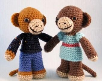 Little Monkey Amigurumi Pattern PDF