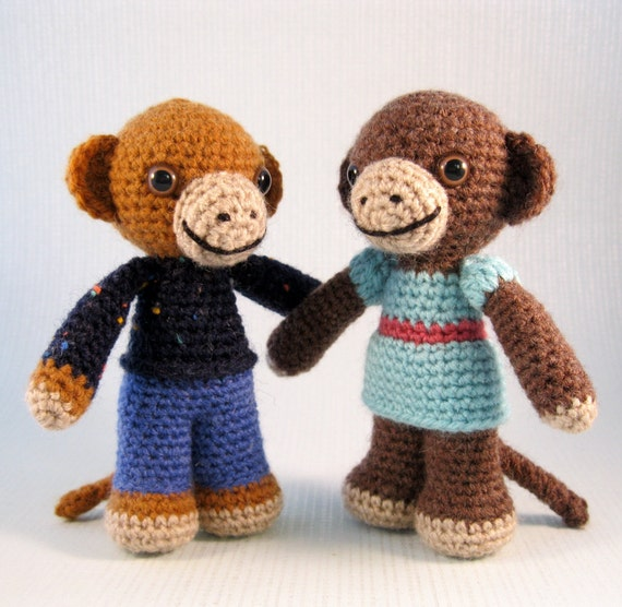 Amigurumi Monkey Etsy : Little Monkey Amigurumi Pattern PDF