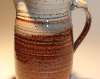 Ceramic Pitcher -  Honey Brown and cream pitcher-  Ready to Ship- In-Stock