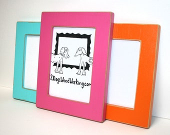 8x12 picture frame, Colored frame, Black photo Frame, weathered frame, Distressed frame, colorful frame, shabby chic frame, 67 colors 1.5""