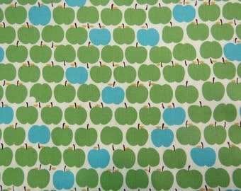 2513A - Sweet Tiny Apples in Green, Fruit Fabric, Cotton Fabric